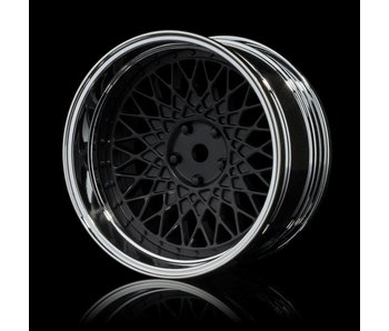 MST 501 Wheel Set - Adj. Offset (4) / Flat Black-Silver