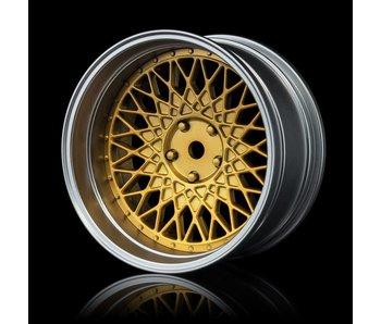 MST 501 Wheel Set - Adj. Offset (4) / Gold-Flat Silver