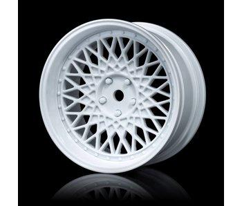 MST 501 Wheel Set - Adj. Offset (4) / White-White
