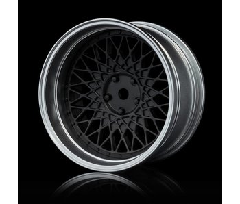 MST 501 Wheel Set - Adj. Offset (4) / Flat Black-Flat Silver