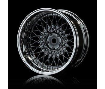 MST 501 Wheel Set - Adj. Offset (4) / Silver Black-Silver