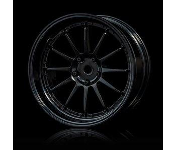 MST 21 Wheel Set - Adj. Offset (4) / Black-Black