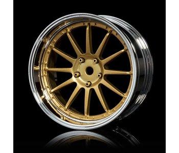 MST 21 Wheel Set - Adj. Offset (4) / Gold-Silver