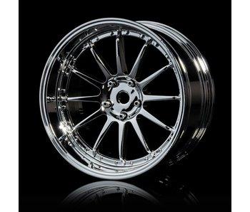 MST 21 Wheel Set - Adj. Offset (4) / Silver-Silver