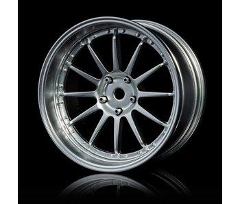 MST 21 Wheel Set - Adj. Offset (4) / Flat Silver-Flat Silver