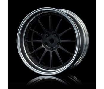 MST 21 Wheel Set - Adj. Offset (4) / Flat Black-Flat Silver