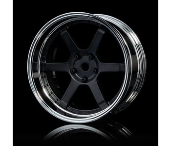MST 106 Wheel Set - Adj. Offset (4) / Flat Black-Silver