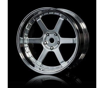 MST 106 Wheel Set - Adj. Offset (4) / Flat Silver-Silver