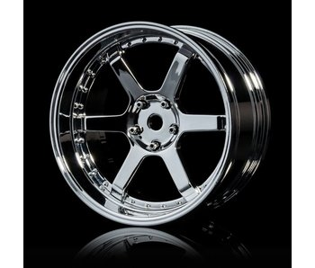 MST 106 Wheel Set - Adj. Offset (4) / Silver-Silver