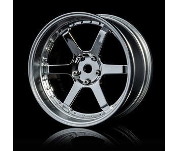 MST 106 Wheel Set - Adj. Offset (4) / Silver-Flat Silver