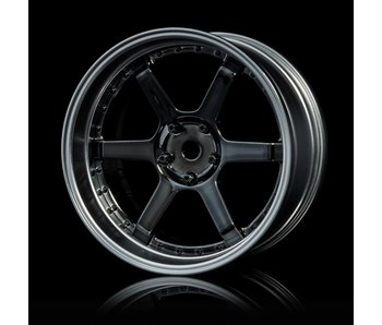 MST 106 Wheel Set - Adj. Offset (4) / Silver Black-Flat Silver