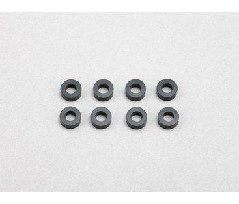 Yokomo Aluminium Shim φ3.0mm x φ6.0mm x 2.5mm - Black (8pcs)