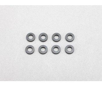 Yokomo Aluminium Shim φ3.0mm x φ6.0mm x 1.5mm - Black (8pcs)