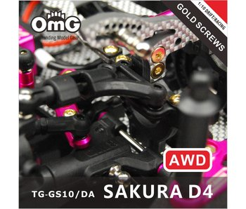 T.GAMES Golden Screw Kit for Sakura D4 (AWD without Chassis screws)