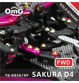 RC OMG TG-GS10/DF - Golden Screw Kit for Sakura D4 (RWD Chassis)