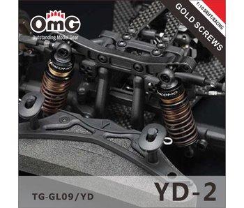 T.GAMES Golden Screw Kit for Yokomo YD-2