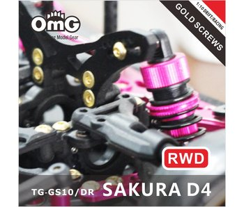 T.GAMES Golden Screw Kit for Sakura D4 (RWD without Chassis screws)