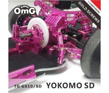 T.GAMES Golden Screw Kit for Yokomo SD