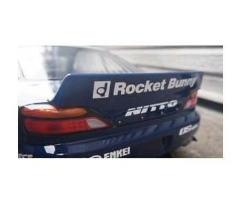 Addiction RC Nissan Silvia S15 Rocket Bunny Body Kit - Duck-Tail Wing & Rear Spoiler