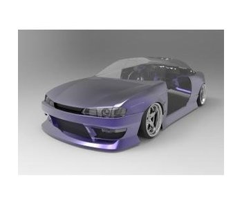 Addiction RC Nissan Silvia S14 (Late) - BN Sports Body Kit - Full Set with Normal Hood (Bonnet)