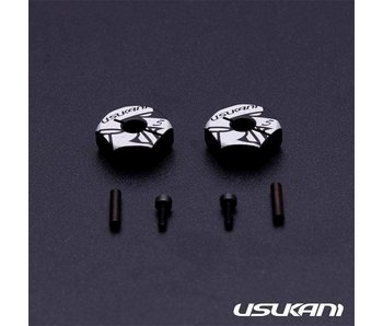 Usukani Aluminium Clamping Wheel Hub 5.0mm (2pcs)