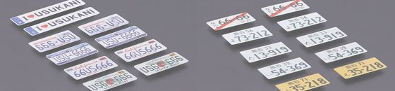 3D License Plate Sticker