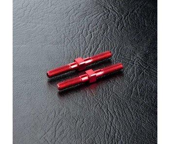 MST Steel Turnbuckle φ3x28mm (2) / Red
