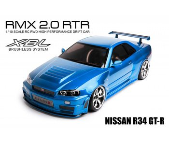 MST RMX 2.0 2WD RTR - Brushless / Nissan R34 GT-R - Blue