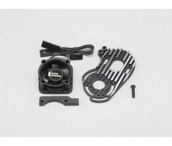 Yokomo Aluminium Special Motor Mount (cooling fan included) - Black Edge Design for YD-2S