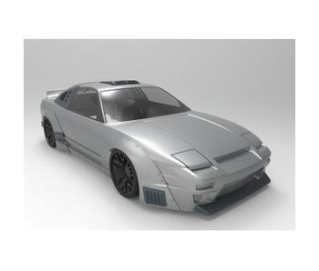Addiction RC Nissan 180SX Military Rocket Bunny Body Kit - Full set