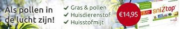 Nieuw: SnizTop®, een 100% natuurlijk middel voor als pollen in de lucht zijn