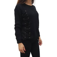 Laced Sweater Black