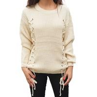 Laced Sweater Beige