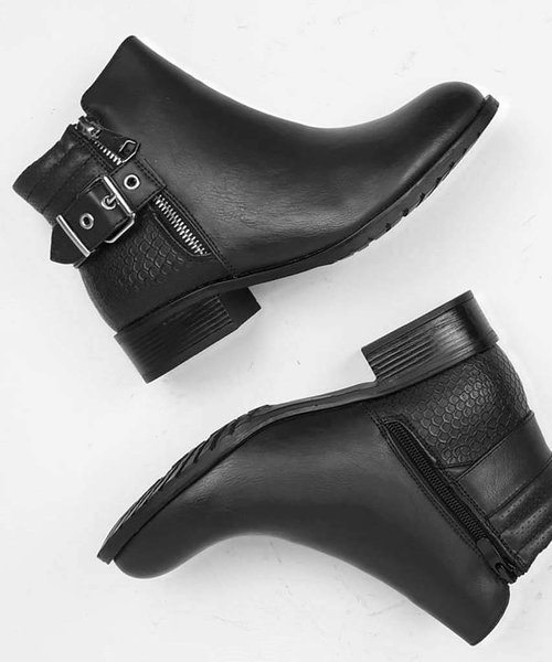 Low Biker Boots
