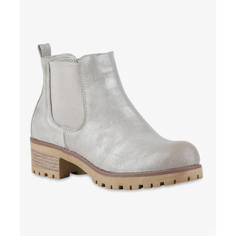 Powder boots light gray