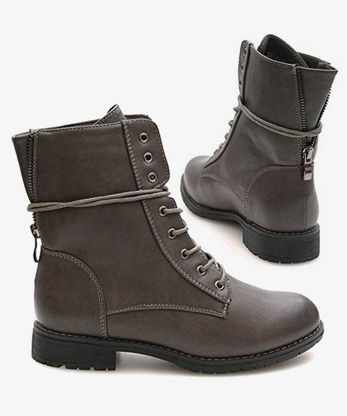 Favorite Biker Boots Gray