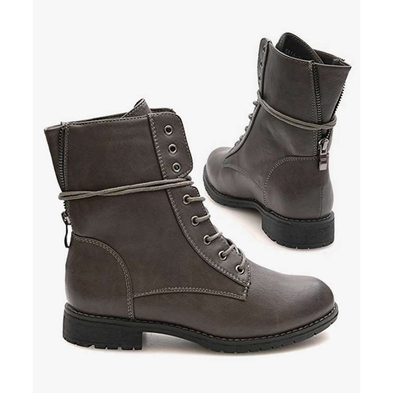 Favorite Biker Boots Gray