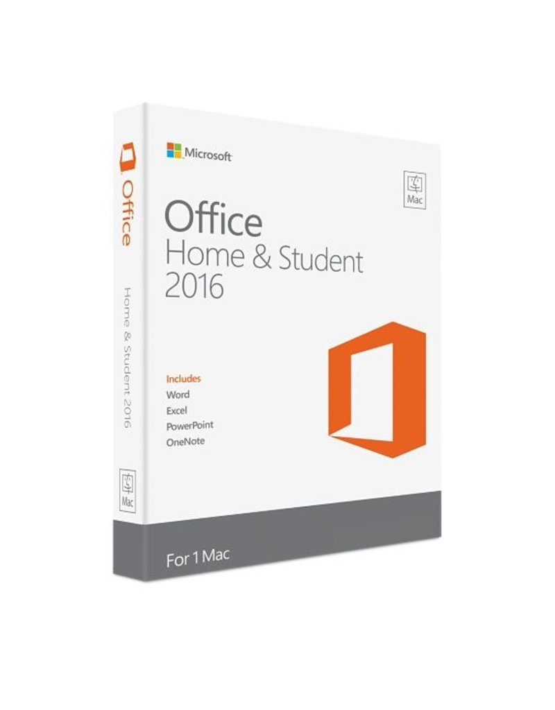 Microsoft Microsoft Office voor MAC Thuisgebruik & Studenten 2016 1-PC
