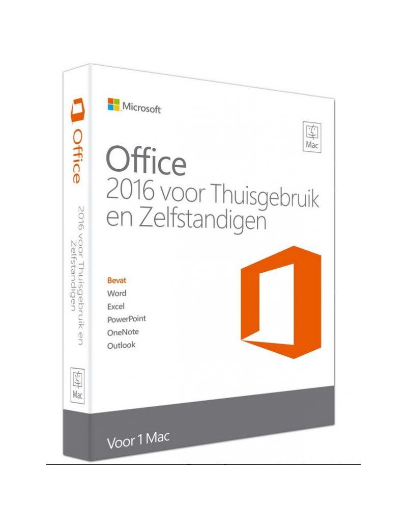 Microsoft Microsoft Office voor MAC Thuisgebruik & Zelfstandigen 2016 1-MAC