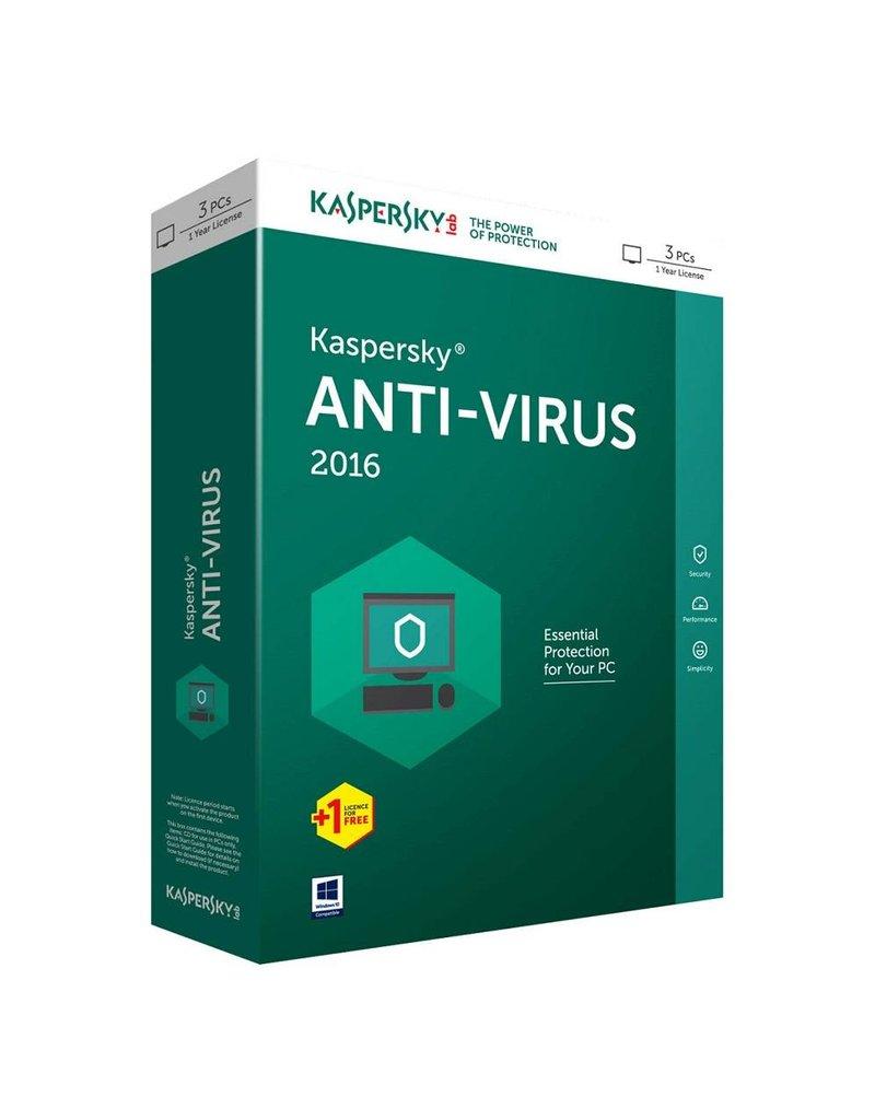 Kaspersky Kaspersky Antivirus 2016 3-PC 1 jaar