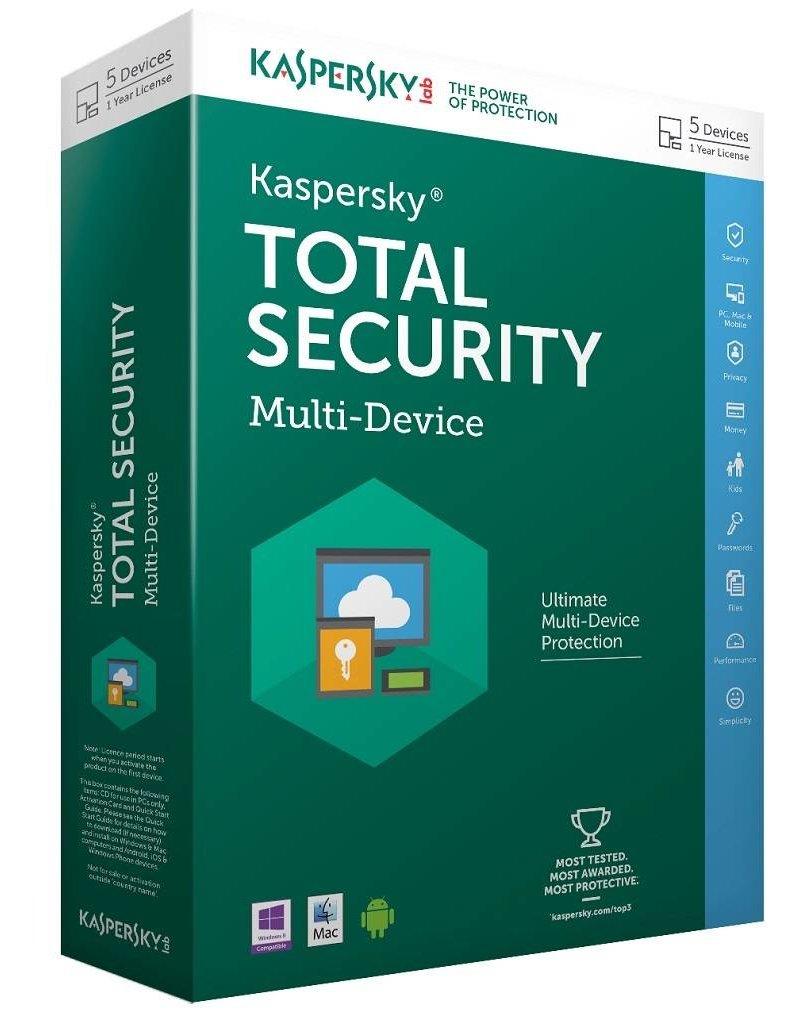 Kaspersky Kaspersky Total Security Multi-Device 2016 5-PC 2 jaar