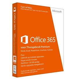 Microsoft Microsoft Office 365 Home 5-PC/MAC 1 jaar