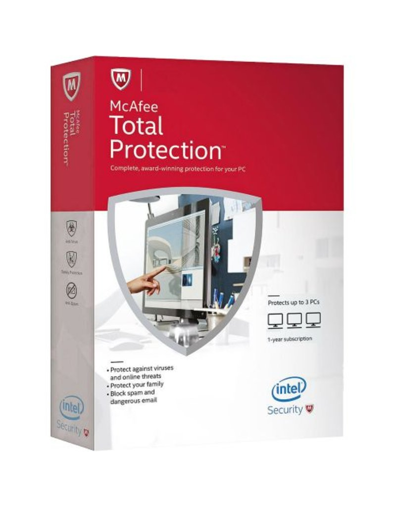 McAfee Total Protection 3-PC 1 jaar GROUPON DEAL