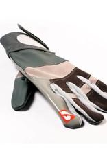 barnett FRG-01 rękawice futbolowe z zaciskiem dla skrzydłowych, szare