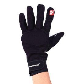 barnett FKG-01 rękawice futbolowe z zaciskiem dla wspomagających, czarne
