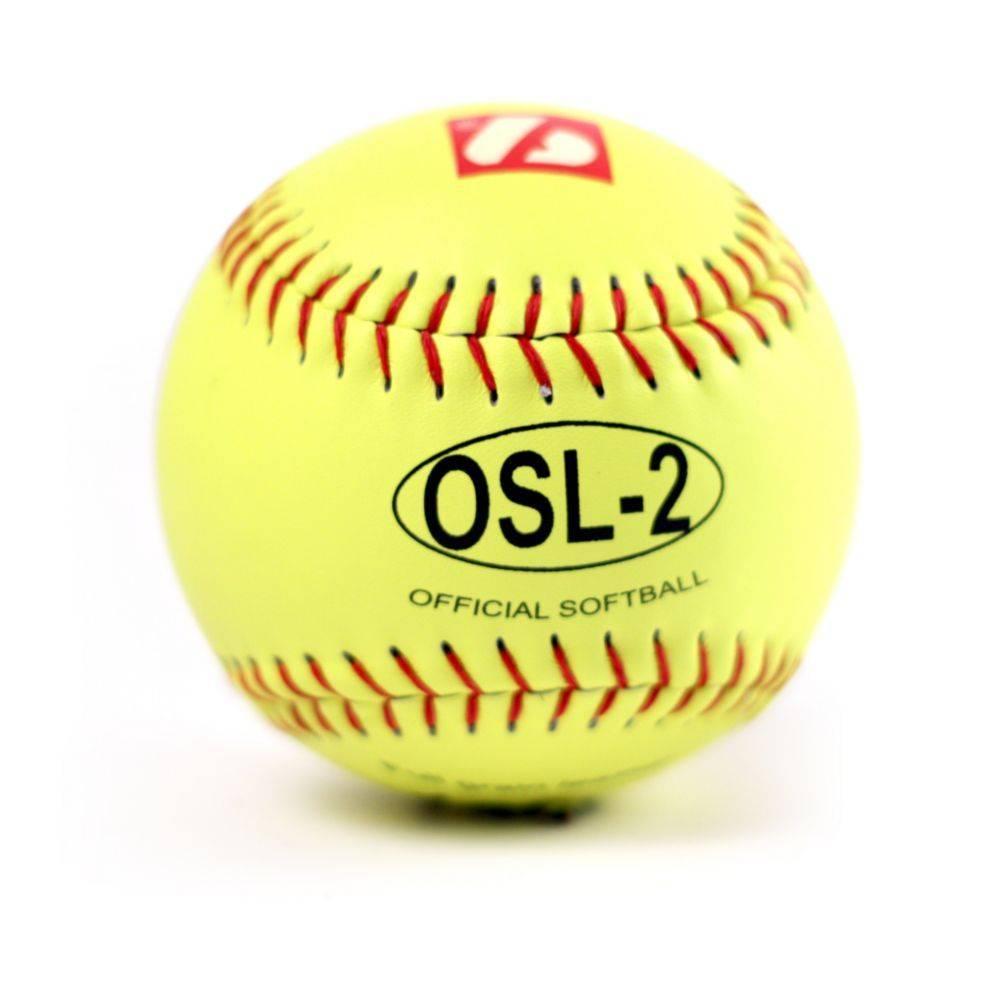 "barnett OSL-2 Turniejowa piłka Softballowa, rozmiar 12"", biała,12 sztuk, 2 sztuki"