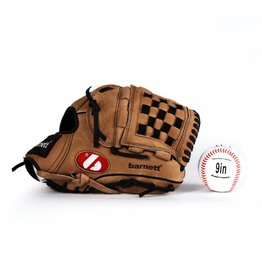 barnett GBSL-2 Baseball set glove and ball, senior, leather (SL-120, LL-1)