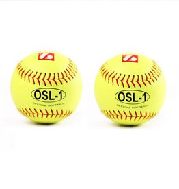 "barnett OSL-1 High competition softball, size 12"", yellow, 2 pieces"