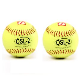 "barnett OSL-2 Competition softball, size 12"", yellow, 2 pieces"