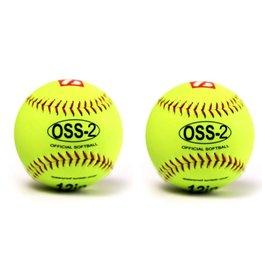 """barnett OSS-2 Practice softball ball, soft touch, size 12"""", 2 pieces"""